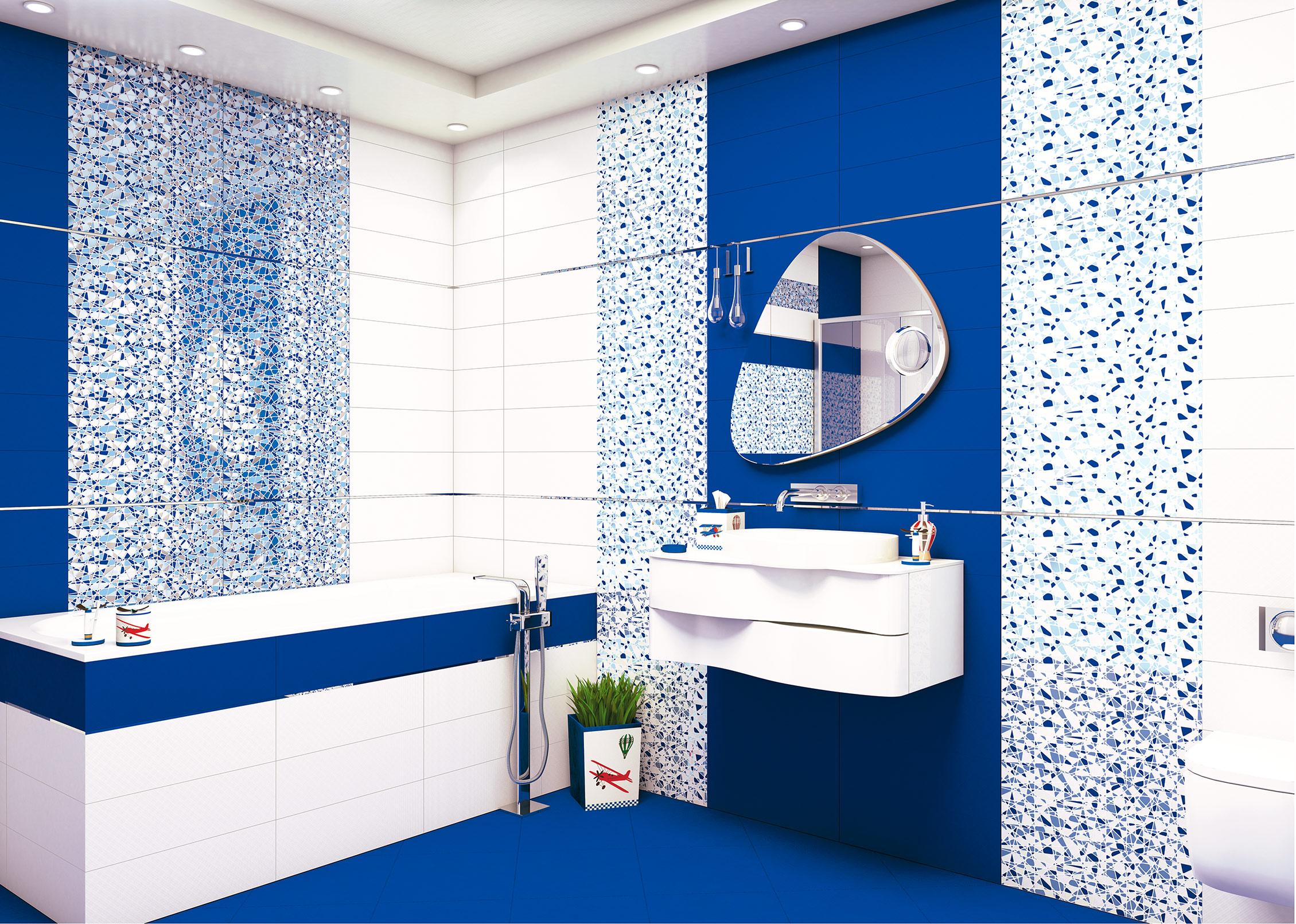 Керамическая плитка калейдоскоп керама марацци подойдет для ванной комнаты, кухонного фартука или прихожей.